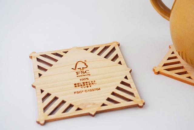 木製コースター