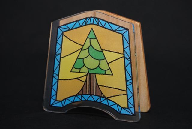 木製メモスタンド
