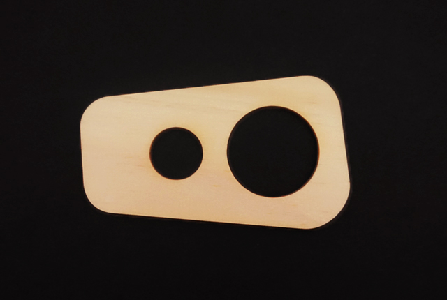 ヒノキのパスタメジャー2つ穴