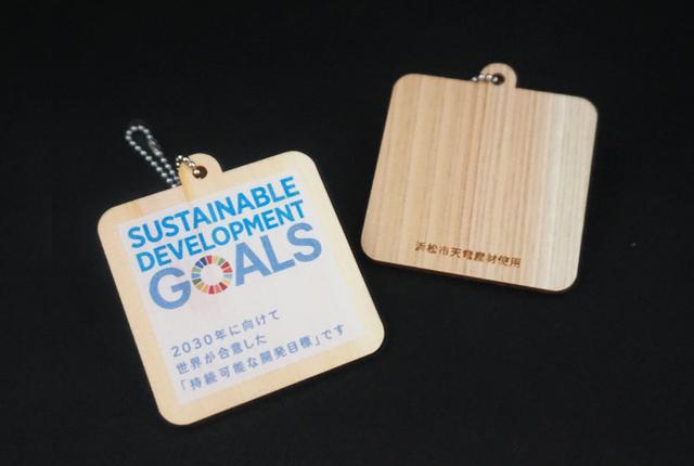 SDGsキーホルダー,木製グッズ
